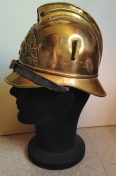 French firefighter helmet, late 19th century - early 20th century