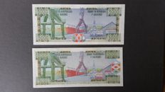 World - Burundi and Rwanda - 29 currency notes of Burundi and 41 currency notes of Rwanda