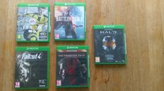 5 Xbox One Games (NL) - Fallout 4, Metal Gear Solid 5, Battlefield 1, Fifa 17, Halo Master chief collection