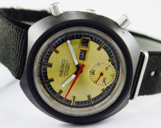 Seiko Chronograph Automatic Ref 6139-6012 Men's Wrist Watch - circa 1970s