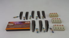 Märklin Z - 8561/8560/7271 - 12-part switch package with switches L/R, double compound point, and control consoles