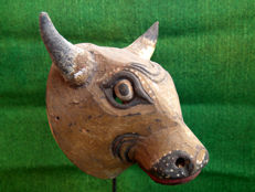 Rare and old buffalo mask Real Horn - Wonosobo - Central Java - Indonesia