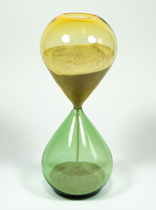 De Mio Giuliano - green and amber incalmo hourglass