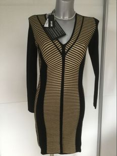 Just Cavalli - knit dress in black and gold, super sexy