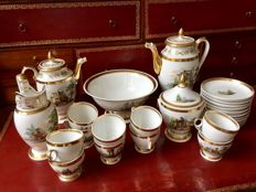 French Empire porcelain coffee / tea / chocolate service