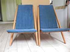 Alf Svensson for Bra Bohag / Haga Fors - Congo chair ( 2x )