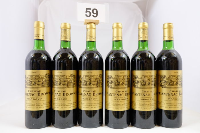 1978, Chateau Cantenac Brown, Troisieme Grand Cru Classe, Margaux, France, 6 Bottles.