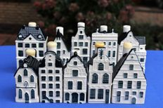 Ten KLM houses (BOLS) Delft blue.