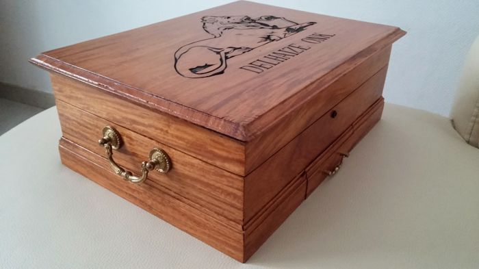 Old Wooden Cigar Box Of Delhaize Onk Catawiki