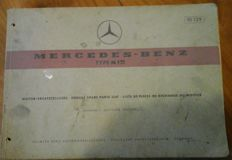Mercedes-Benz - Catalogue 10129 of spare parts for M121engines - circa 1960 10129