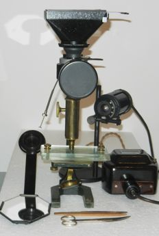 MIFLEX Zeiss Microscope universal camera with microscope Paul Waechter in original condition and museum quality