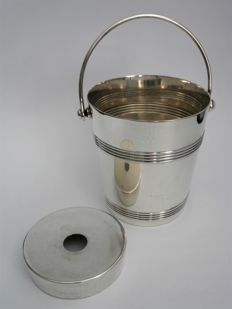 Ice bucket including drip tray, Christofle Gallia, France, 1st half 20th century