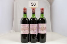 1967 Chateau Cos d'Estournel, Deuxieme Grand Cru Classe, Saint-Estephe, France, 3 Bottles.