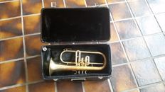 Bugle Musica Steyr Austria with mouthpiece and case