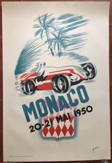 Grand Prix of Monaco (1950)poster  - Print of the 1980s