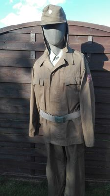 Complete GDR Civil Defence Uniform
