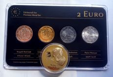 "Germany - 2 Euro coin 2013 ""Precious Metals"" ennobled, plus medal ""Beatles"""