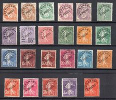 France 1922/47 – Selection of precancels signed Calves – Yvert between no. 39 and 64.