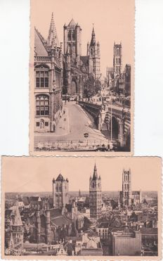 Belgian cities and regions - 211 old cards + 34 mini cards