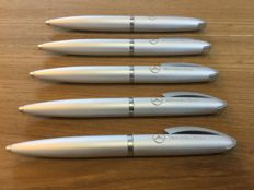 Lot of five Mercedes pens aluminum for the collector
