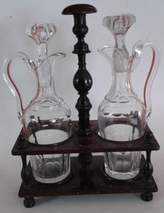 Napoleon III - Large oil and vinegar set, France - end 19th century,