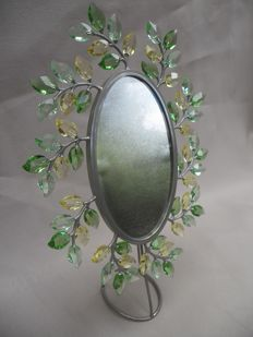 Swarovski - picture frame with green leaves by Yasmine Hurel