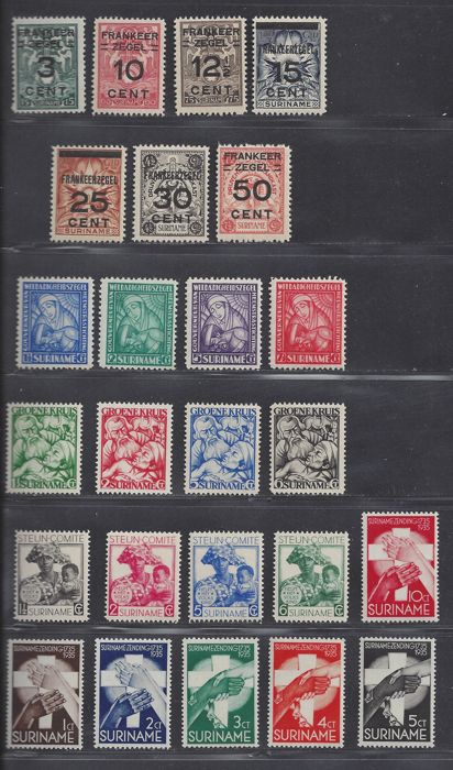 Suriname 1926/1933 - Six different, complete issues