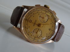Chronographe Suisse 18K- vintage men's wristwatch - 40/60s