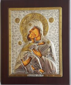 925 silver Orthodox İcon  Our Lady of Kazan