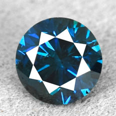 Blue diamond – 0.42 ct VG/VG/VG – NO RESERVE PRICE
