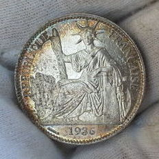 French Indochina - 50 Cents 1936 - Silver