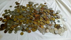 World - batch of various coins, 1900 coins (approx. 7½ kg)