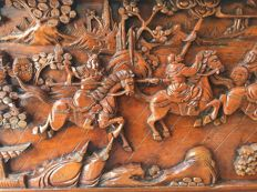 Camphor Wood Oriental Altarpieces - China - mid 20th century