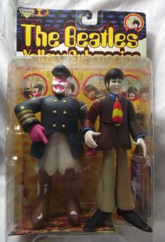 Very rare and collectible, McFarlane variant figures of, Paul McCartney and Captain Fred( 1999 ).