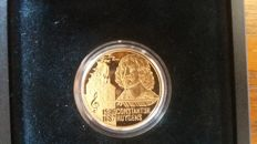 Netherlands - 20, 50 and 100 euro 1996 'Huygens' (3 coins) silver and gold.