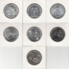 Portugal - 10 euro commemorative coins (7 different coins) 2003–2012 - silver