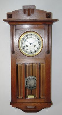 Box regulator clock - Gustav Becker - Art Deco - Period 1920
