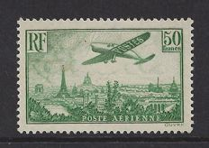 France 1936 – Aeroplane above Paris – Yvert PA no. 14