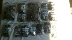 Europe - batch of various coins, approx. 2200 coins (8½ kg)