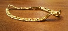 Item no. BMi 2005 - 18 kt yellow gold bracelet 8 g - 19 cm