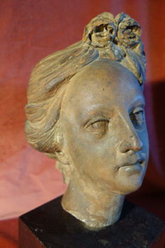 Marie Antoinette - terracotta head - France - end of the 18th century