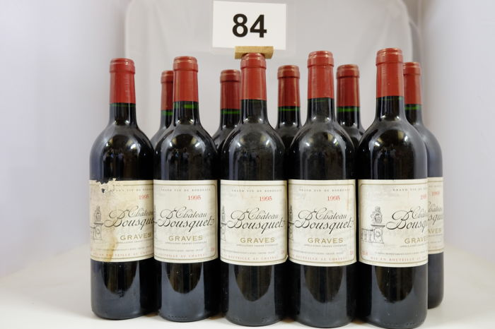 1995 Château Bousquet, Graves, France - 10 Bottles.