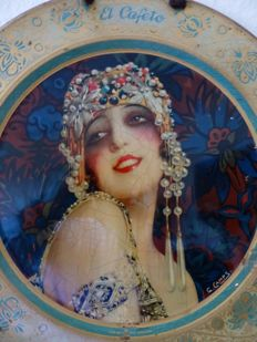 G. Gamps - Original Art Deco Wandwerbeteller