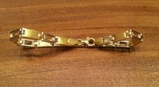Two-tone 18 kt gold bracelet 9 g