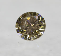 0.50 Ct Fancy Intense Brown SI2 Brilliant *** NO RESERVE ***