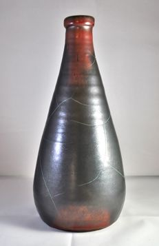 Art Deco Paul Dressler Grootenburg Copper Glazed Vase circa 1930