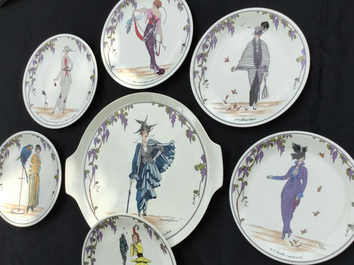 Villeroy Boch Cake Plate With 6 Dessert Plates Fashion Design