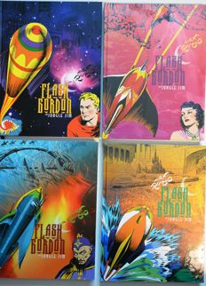 IDW Publishing - Flash Gordon And Jungle Jim  - Alex Raymond - X4 HC Containing Strips / Comics From 1934-1944 - (2011/2014)