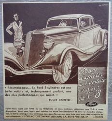 Ford - Lot of 24 Advertisements from 1934 to 1938