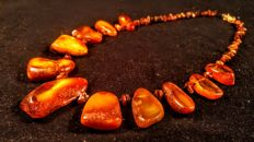 Baltic Amber necklace, length 50 cm, 38 grams